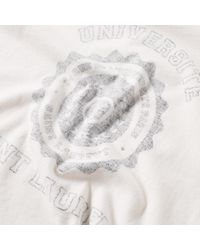 Saint Laurent - Pink University Washed Logo Tee for Men - Lyst