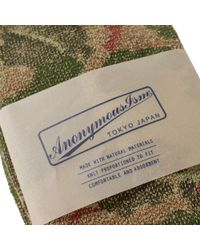 Anonymous Ism - Green Camo Pile Crew Sock for Men - Lyst