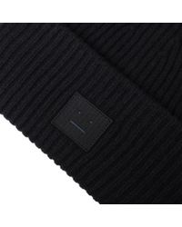 Acne - Black Pansy L Face Beanie for Men - Lyst