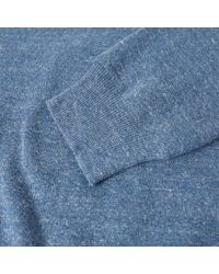 Polo Ralph Lauren - Blue Knitted Sports Crew Neck Sweat for Men - Lyst