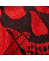 Alexander McQueen - Red Large Skull Scarf for Men - Lyst