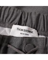 Thom Browne - Gray Stripe Wool Sweat Pant for Men - Lyst
