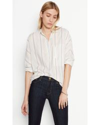 Equipment - Gray Elsie Cotton Shirt - Lyst