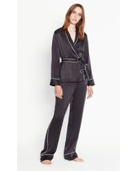 Equipment - Black Odette Satin Pajama Set - Lyst