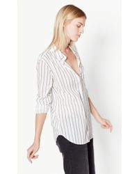 Equipment | White Kenton Cotton Shirt | Lyst