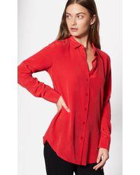 Equipment - Red Essential Silk Shirt - Lyst