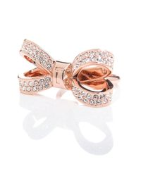 Ted Baker - Pink Olima Bow Ring - Lyst