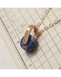 Erica Weiner - Metallic Lapis Roller Necklace - Lyst