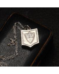 Erica Weiner - Metallic 1896 Monogram Shield Locket for Men - Lyst