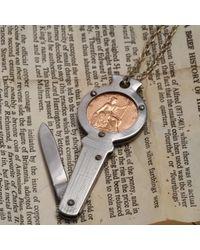 Erica Weiner - Metallic 1922 Farthing Folding Knife Necklace for Men - Lyst