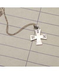 "Erica Weiner - Metallic 1886 ""h.i.n."" Maltese Cross Silver Necklace - Lyst"