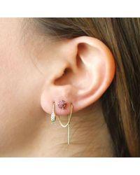 Erica Weiner - Red Raw Ruby Earrings - Lyst