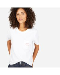 Everlane - White The 100% Human Cotton Box-cut Tee In Small Print - Lyst