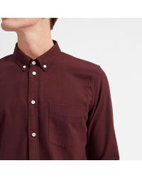 Everlane - Purple The Modern Flannel Shirt for Men - Lyst