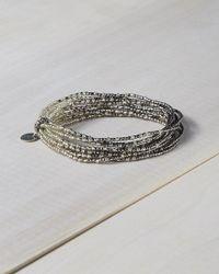 Express - Metallic Chan Luu Gunmetal Seed Bead Stretch Bracelet - Lyst