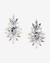 Express - Multicolor Stoneburst Drop Earrings - Lyst