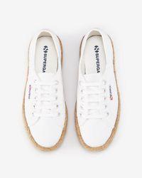 Express - White Superga Espadrille Platform Sneaker - Lyst