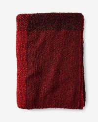 Express   Red Plaid Knit Wrap   Lyst