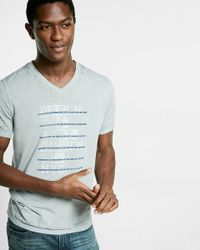 Express | Gray Bridge And Tunnel V-neck Burnout Graphic Tee for Men | Lyst