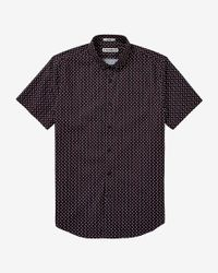 Express - Black Short Sleeve Micro Print Shirt for Men - Lyst
