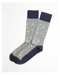 Express - Gray Floral Print Dress Socks for Men - Lyst