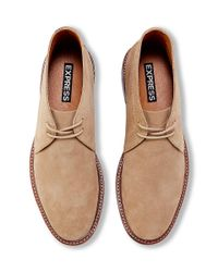 Express - Brown Suede Chukka Boot for Men - Lyst