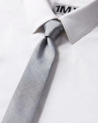 Express - Pink Reverisble Slim Silk Blend Tie for Men - Lyst
