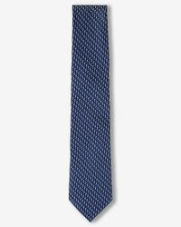 Express | Blue Narrow Micro Print Silk Tie for Men | Lyst