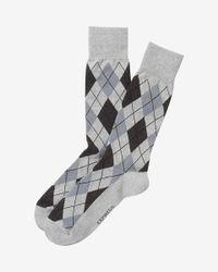 Express | Gray Argyle Print Dress Socks for Men | Lyst