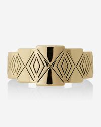 Express - Metallic Geo Etched Metal Cuff - Lyst