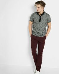 Express | Black Marled Signature Polo for Men | Lyst