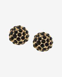 Express - Black Fireball Post Earrings - Lyst