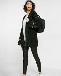 Express Black Chunky Knit Coatigan