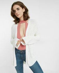 Express | White Thermal Bell Sleeve Cover-up | Lyst