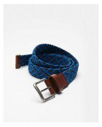 Express - Blue Web Stretch Belt - Lyst