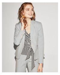 Express - Gray Textured Blazer - Lyst