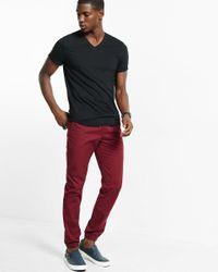 Express - Black Soft Wash V-neck T-shirt for Men - Lyst
