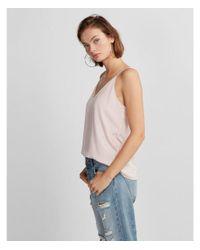 Express - Pink Soft V-neck Cami - Lyst