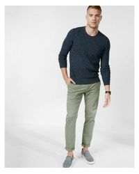 Express | Blue Textured Crew Neck Sweater for Men | Lyst