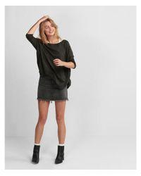 Express - Green Marled Extreme Circle Hem Tunic Sweater - Lyst