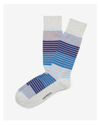 a12677048db3 Lyst - Express Striped Dress Socks in Blue for Men