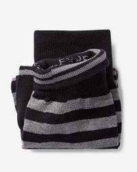 Express - Black Stripe Print Dress Socks for Men - Lyst