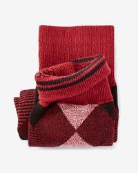 Express - Red Diamond Dress Socks for Men - Lyst
