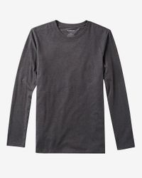Express - Gray Heathered Long Sleeve Flex Stretch Tee for Men - Lyst