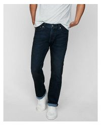Express - Blue Slim Straight Dark Wash Stretch+ Soft Cotton Jeans, Men's Size:w34 L32 for Men - Lyst