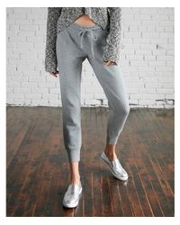 Express - Gray Heathered Jogger Pant - Lyst