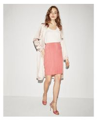 Express - Pink High Waisted Fitted Pencil Skirt - Lyst