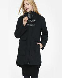 Express | Black Twill Toggle Coat | Lyst