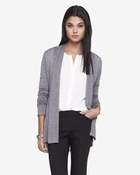 Express | Gray Ribbed Inset Cover-up | Lyst