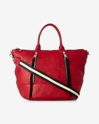 Express   Red Double Zip Hobo Bag   Lyst